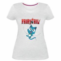 Жіноча стрейчева футболка Fairy tail Happy