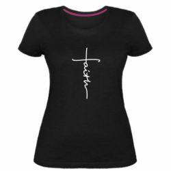 Женская стрейчевая футболка Faith