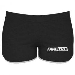 Женские шорты Fake Taxi Logo