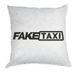 Подушка Fake Taxi Logo