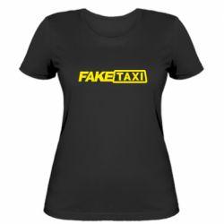 Женская футболка Fake Taxi Logo