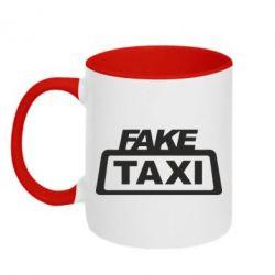 Кружка двоколірна 320ml Fake Taxi