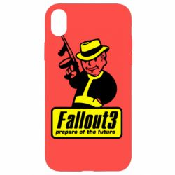 Чехол для iPhone XR Fallout 3 Logo - FatLine