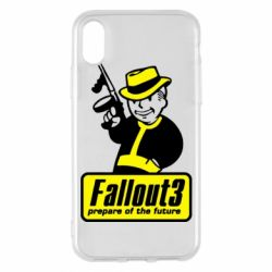 Чехол для iPhone X Fallout 3 Logo - FatLine