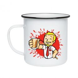 Кружка емальована Fallout  boy blood