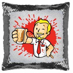 Подушка-хамелеон Fallout  boy blood