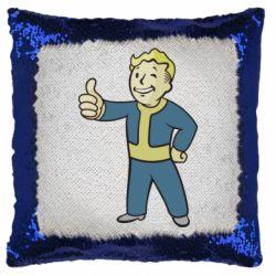 Подушка-хамелеон Fallout Boy