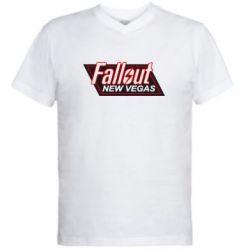 Мужская футболка  с V-образным вырезом Fallout New Vegas - FatLine