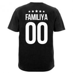 Чоловіча футболка з V-подібним вирізом Прізвище та номер