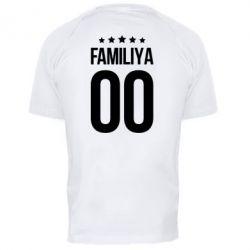 Чоловіча спортивна футболка Прізвище та номер