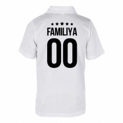 Дитяча футболка поло Прізвище та номер