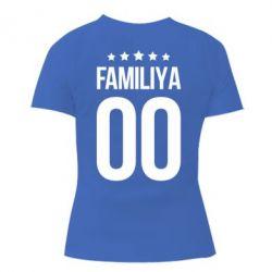 Жіноча футболка з V-подібним вирізом Прізвище та номер