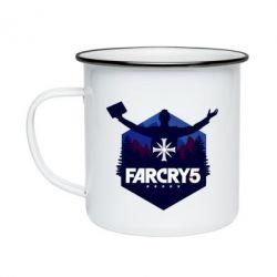 Кружка емальована Far cry 5 silhouette Joseph Seed