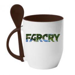 Кружка с керамической ложкой Far Cry Island