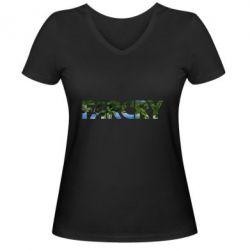 Женская футболка с V-образным вырезом Far Cry Island
