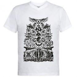 10c7f7aa2bb43 Мужские футболки с V-образным вырезом с принтом на тему: Tattoo ...