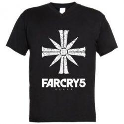 Чоловіча футболка з V-подібним вирізом FarCry 5 logo