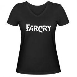 Женская футболка с V-образным вырезом FarCry - FatLine