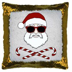 Подушка-хамелеон Fashionable Santa