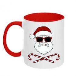 Кружка двоколірна 320ml Fashionable Santa