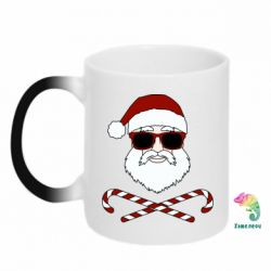 Кружка-хамелеон Fashionable Santa