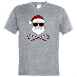 Чоловіча футболка з V-подібним вирізом Fashionable Santa
