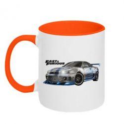 Кружка двухцветная Fast and Furious - FatLine