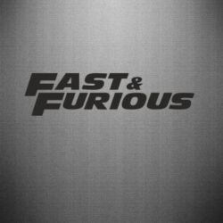 Наклейка Fast & Furious