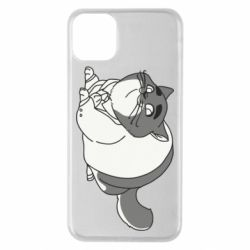 Чехол для iPhone 11 Pro Max Fat cat in a jacket