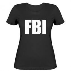 Женская футболка FBI (ФБР) - FatLine