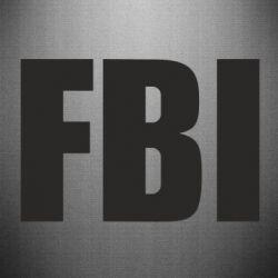 Наклейка FBI (ФБР) - FatLine