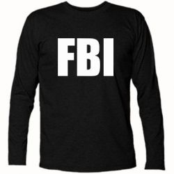 Футболка с длинным рукавом FBI (ФБР) - FatLine