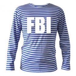 Тельняшка с длинным рукавом FBI (ФБР) - FatLine