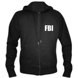 Мужская толстовка на молнии FBI (ФБР) - FatLine