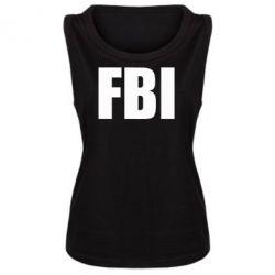 Женская майка FBI (ФБР) - FatLine