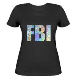 Женская футболка FBI голограмма