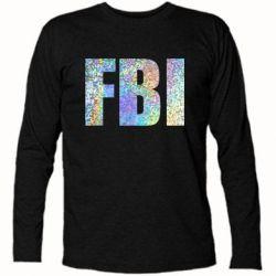 Футболка з довгим рукавом FBI голограма