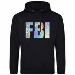 Мужская толстовка FBI голограмма