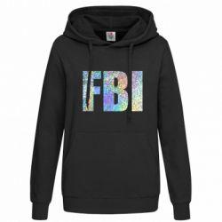 Женская толстовка FBI голограмма