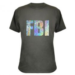 Камуфляжная футболка FBI голограмма
