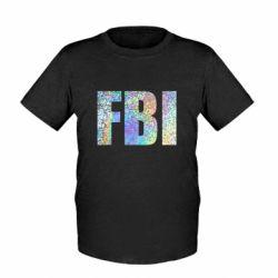 Детская футболка FBI голограмма
