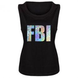 Женская майка FBI голограмма