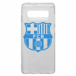 Чехол для Samsung S10+ FC Barcelona