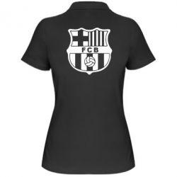 Женская футболка поло FC Barcelona - FatLine