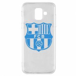 Чехол для Samsung A6 2018 FC Barcelona