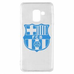 Чехол для Samsung A8 2018 FC Barcelona