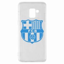 Чехол для Samsung A8+ 2018 FC Barcelona