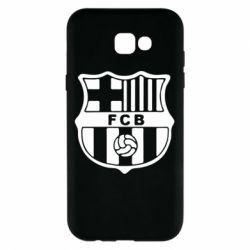 Чехол для Samsung A7 2017 FC Barcelona