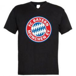 Мужская футболка  с V-образным вырезом FC Bayern Munchen - FatLine