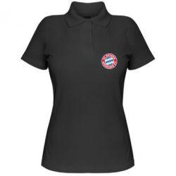 Женская футболка поло FC Bayern Munchen - FatLine